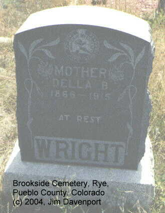 WRIGHT, DELLA B. - Pueblo County, Colorado | DELLA B. WRIGHT - Colorado Gravestone Photos