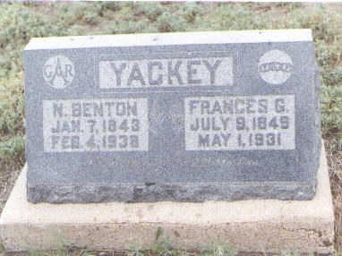 YACKEY, N. BENTON - Pueblo County, Colorado | N. BENTON YACKEY - Colorado Gravestone Photos