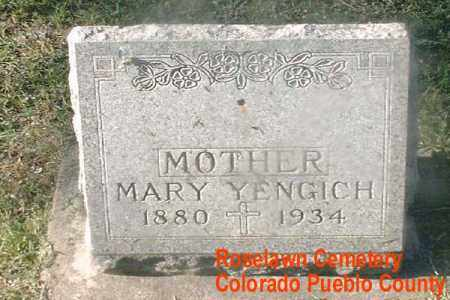 YENGICH, MARY A. - Pueblo County, Colorado | MARY A. YENGICH - Colorado Gravestone Photos