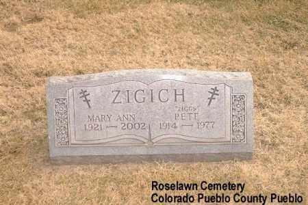 PRITZA YENGICH, MARY ANN - Pueblo County, Colorado | MARY ANN PRITZA YENGICH - Colorado Gravestone Photos