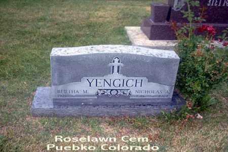 YENGICH, NICKOLS A. - Pueblo County, Colorado | NICKOLS A. YENGICH - Colorado Gravestone Photos