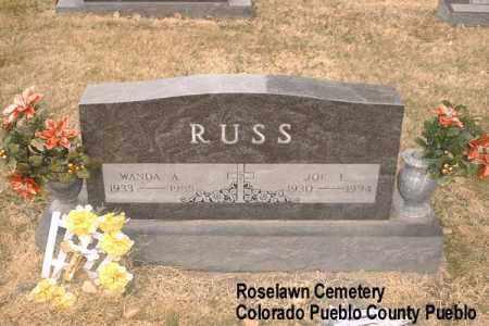 RUSS, JOE F. - Pueblo County, Colorado   JOE F. RUSS - Colorado Gravestone Photos