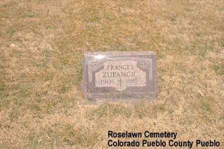 ZUPANCIC, FRANCES - Pueblo County, Colorado | FRANCES ZUPANCIC - Colorado Gravestone Photos