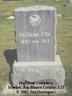 FISK, SHERMAN - Rio Blanco County, Colorado | SHERMAN FISK - Colorado Gravestone Photos