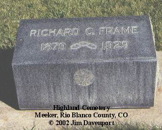 FRAME, RICHARD C. - Rio Blanco County, Colorado | RICHARD C. FRAME - Colorado Gravestone Photos