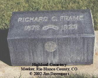 FRAME, RICHARD C. - Rio Blanco County, Colorado | RICHARD C. FRAME - Colorado Gravestone Photos