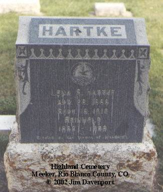 HARTKE, LENA S. - Rio Blanco County, Colorado | LENA S. HARTKE - Colorado Gravestone Photos