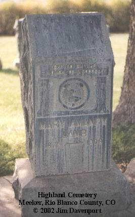 LAMB, MARY AMANDY - Rio Blanco County, Colorado   MARY AMANDY LAMB - Colorado Gravestone Photos