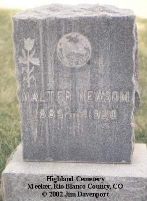 NEWSOM, WALTER - Rio Blanco County, Colorado | WALTER NEWSOM - Colorado Gravestone Photos