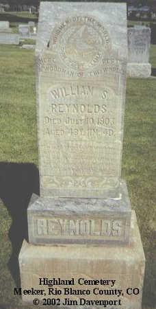 REYNOLDS, WILLIAM S. - Rio Blanco County, Colorado   WILLIAM S. REYNOLDS - Colorado Gravestone Photos