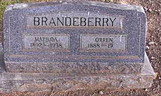 BRANDEBERRY, MATILDA - Rio Grande County, Colorado | MATILDA BRANDEBERRY - Colorado Gravestone Photos