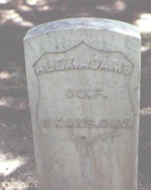ADAMS, ALEX. - Rio Grande County, Colorado   ALEX. ADAMS - Colorado Gravestone Photos