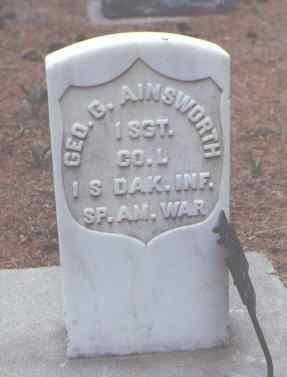 AINSWORTH, GEO. G. - Rio Grande County, Colorado   GEO. G. AINSWORTH - Colorado Gravestone Photos