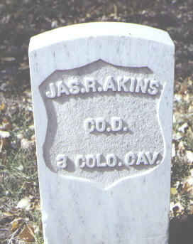 AKINS, JAS. R. - Rio Grande County, Colorado | JAS. R. AKINS - Colorado Gravestone Photos
