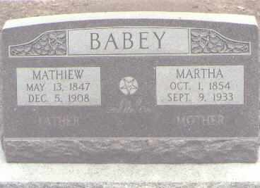 BABEY, MATHIEW - Rio Grande County, Colorado | MATHIEW BABEY - Colorado Gravestone Photos