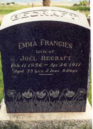 BECRAFT, EMMA FRANCIES - Rio Grande County, Colorado | EMMA FRANCIES BECRAFT - Colorado Gravestone Photos