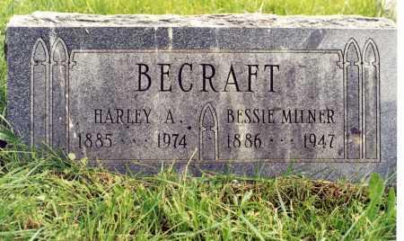 MILNER BECRAFT, BESSIE BERTHA - Rio Grande County, Colorado | BESSIE BERTHA MILNER BECRAFT - Colorado Gravestone Photos