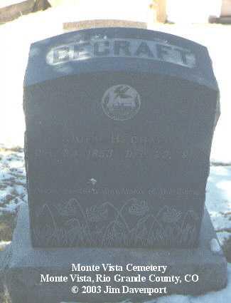 BECRAFT, JOEL - Rio Grande County, Colorado | JOEL BECRAFT - Colorado Gravestone Photos