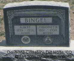 BINGEL, JOHANNETTE - Rio Grande County, Colorado   JOHANNETTE BINGEL - Colorado Gravestone Photos