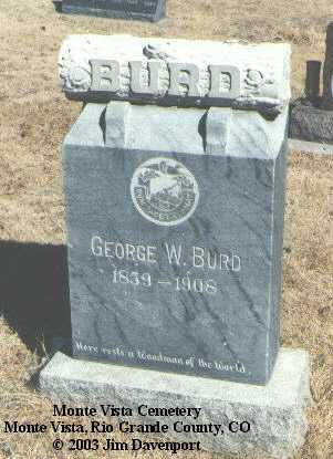 BURD, GEORGE W. - Rio Grande County, Colorado | GEORGE W. BURD - Colorado Gravestone Photos