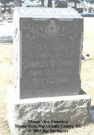 CHANEY, IDA ALICE - Rio Grande County, Colorado | IDA ALICE CHANEY - Colorado Gravestone Photos