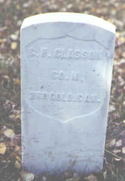 CLASSON, G. F. - Rio Grande County, Colorado | G. F. CLASSON - Colorado Gravestone Photos
