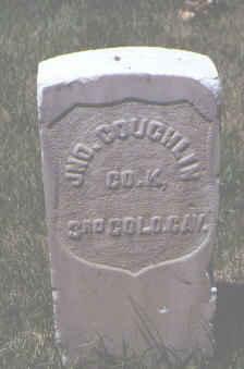 COUGHLIN, JNO. - Rio Grande County, Colorado | JNO. COUGHLIN - Colorado Gravestone Photos