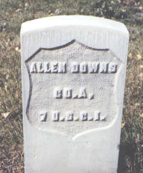 DOWNS, ALLEN - Rio Grande County, Colorado | ALLEN DOWNS - Colorado Gravestone Photos