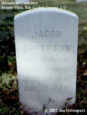 EPPERSON, JACOB - Rio Grande County, Colorado | JACOB EPPERSON - Colorado Gravestone Photos