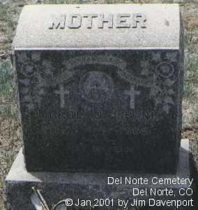 FRANK, MINNIE J. - Rio Grande County, Colorado   MINNIE J. FRANK - Colorado Gravestone Photos