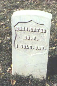 GATES, BENJ. - Rio Grande County, Colorado | BENJ. GATES - Colorado Gravestone Photos