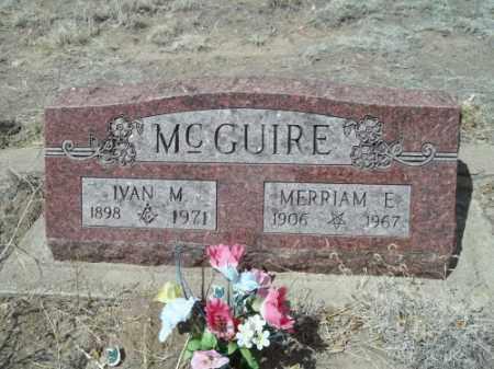 MCGUIRE, IVAN M. - Rio Grande County, Colorado | IVAN M. MCGUIRE - Colorado Gravestone Photos