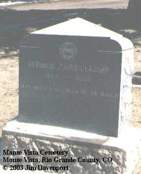 MIDDELKAMP, HERMAN J. - Rio Grande County, Colorado | HERMAN J. MIDDELKAMP - Colorado Gravestone Photos