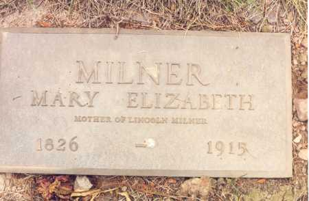 MILNER, MARY ELIZABETH - Rio Grande County, Colorado | MARY ELIZABETH MILNER - Colorado Gravestone Photos
