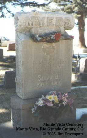 MYERS, SARAH B. - Rio Grande County, Colorado | SARAH B. MYERS - Colorado Gravestone Photos