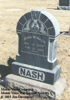 NASH, ANNA M. - Rio Grande County, Colorado | ANNA M. NASH - Colorado Gravestone Photos