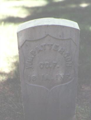 PATTERSON, WM. - Rio Grande County, Colorado   WM. PATTERSON - Colorado Gravestone Photos