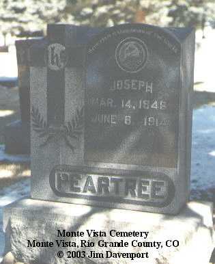 PEARTREE, JOSEPH - Rio Grande County, Colorado | JOSEPH PEARTREE - Colorado Gravestone Photos