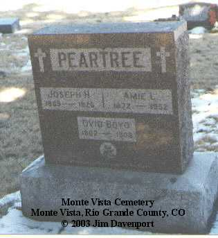 PEARTREE, AMIE L. - Rio Grande County, Colorado | AMIE L. PEARTREE - Colorado Gravestone Photos