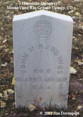 RAWLINGS, JOHN H. - Rio Grande County, Colorado | JOHN H. RAWLINGS - Colorado Gravestone Photos