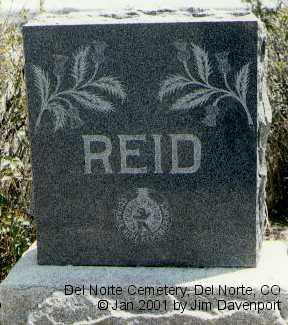 REID, EUPHEMILA T. - Rio Grande County, Colorado   EUPHEMILA T. REID - Colorado Gravestone Photos