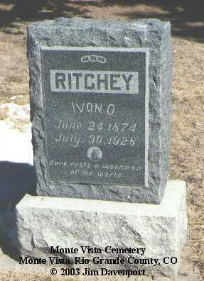 RITCHEY, IVON O. - Rio Grande County, Colorado | IVON O. RITCHEY - Colorado Gravestone Photos