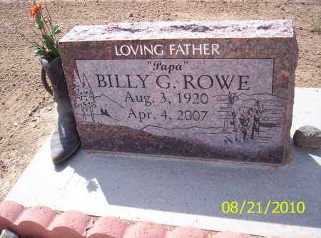 ROWE, BILLY G - Rio Grande County, Colorado | BILLY G ROWE - Colorado Gravestone Photos