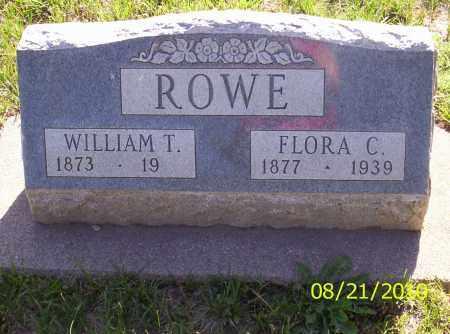 ROWE, FLORA C - Rio Grande County, Colorado   FLORA C ROWE - Colorado Gravestone Photos
