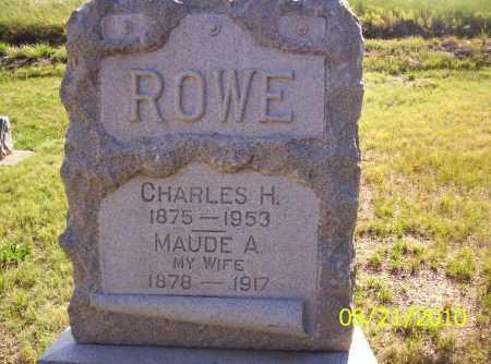 ROWE, MAUDE F - Rio Grande County, Colorado | MAUDE F ROWE - Colorado Gravestone Photos