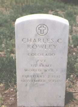 ROWLEY, CHARLES C. - Rio Grande County, Colorado | CHARLES C. ROWLEY - Colorado Gravestone Photos