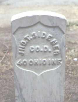 SIDENER, JNO. T. - Rio Grande County, Colorado | JNO. T. SIDENER - Colorado Gravestone Photos