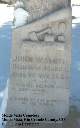 SMITH, JOHN W. - Rio Grande County, Colorado | JOHN W. SMITH - Colorado Gravestone Photos
