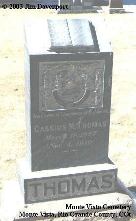 THOMAS, CASSIUS M. - Rio Grande County, Colorado | CASSIUS M. THOMAS - Colorado Gravestone Photos