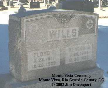 WILLS, NEWTON S. - Rio Grande County, Colorado | NEWTON S. WILLS - Colorado Gravestone Photos